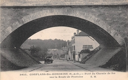 ¤¤ -   CONFLANS-SAINTE-HONORINE   -  Pont Du Chemin De Fer Sur La Route De Pontoise   -  ¤¤ - Conflans Saint Honorine