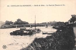 ¤¤ -   CONFLANS-SAINTE-HONORINE   -  Le Pont Du Chemin De Fer    -  ¤¤ - Conflans Saint Honorine