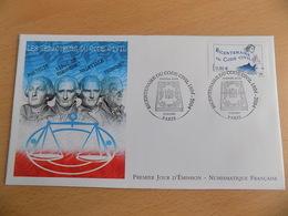 FDC France : Bicentenaire Du Code Civil - Paris 12/03/2004 - FDC