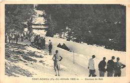¤¤ -    FONT-ROMEU   -  Course De Bob   -  Sports D'Hivers     -  ¤¤ - France