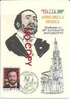Modena, 24.10.2009, Primo Giorno Francobollo Luciano Pavarotti, Italia 2009 Giornata Della Musica. - Cantanti E Musicisti