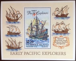 Norfolk Island 1994 Pacific Explorers Minisheet MNH - Norfolk Island