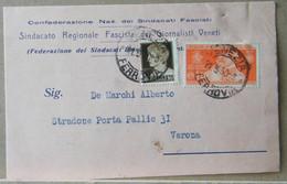 DB75 - CARTOLINA INTESTATA SINDACATO REGIONALE GIORNALISTI VENETI - VENEZIA - Marcofilía