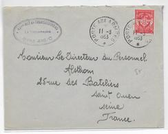 1953 - ENVELOPPE FM Du BPM 415 / C à ZWEIBRÜCKEN (ALLEMAGNE) - 42° RGT De TRANSMISSIONS - Postmark Collection (Covers)