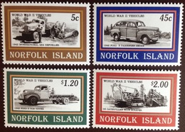 Norfolk Island 1995 World War II Vehicles MNH - Norfolk Island