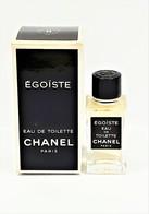 Miniatures De Parfum    ÉGOÏSTE De  CHANEL EDT   4  Ml  De  Chanel  + Boite - Modern Miniatures (from 1961)