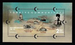 (4424) CENTENARY OF THE NATIONAL STRUGGLE SOUVENIR SHEET MNH** - Nuevos