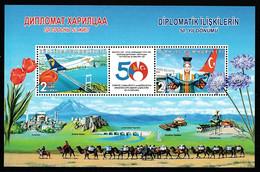 (4426) 50 ANNIVERSARY OF DIPLOMATIC RELATIONS BETWEEN TURKISH REPUBLIC AND MONGOLIA SOUVENIR SHEET MNH** - Nuevos