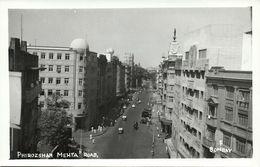 India, BOMBAY, Phirozshah Mehta Road (1950s) RPPC Postcard - India