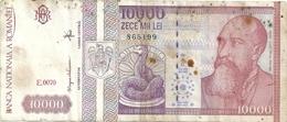 BANCA NATIONALA A ROMANIA . 10.000 LEI . N° E.0070  . BILLET CLASSE PAS COURANT  . 2 SCANES - Roumanie