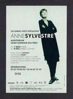 CPM.   Cart'Com.   Anne Sylvestre.   Auditorium De Saint-Germain Des Prés. - Artisti