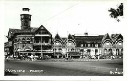 India, BOMBAY, Crowford Market (1950s) RPPC Postcard - India