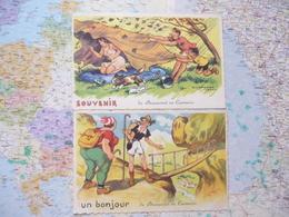 De Brancourt En Laonnois 2 Cartes Illustrateur J.Chaperon éditions G.Picard - Chaperon, Jean