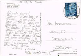 33262. Postal FORNELLS (Baleares) 1976. Port, Puerto De Fornells - 1931-Hoy: 2ª República - ... Juan Carlos I