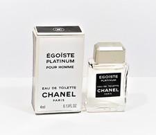 Miniatures De Parfum EGOISTE PLATINUM Pour HOMME De  CHANEL   EDT   4 Ml   + BOITE - Modern Miniatures (from 1961)