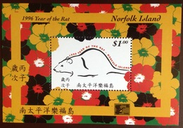 Norfolk Island 1996 Year Of The Rat Minisheet MNH - Norfolk Island