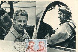 Grands Pilotes D'Essai De L'Avion Française Aviateurs Goujon Et Rozanoff Timbre Cachet Premier Jour Salon Bourget 1959 - Other