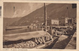 COMO-IL PORTO COMMERCIALE-CARTOLINA VIAGGIATA IL 23-8-1925 - Como