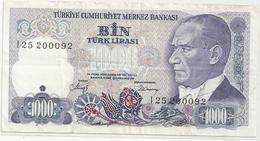 TURKIYE CUMHURIYET MERKEZ BANKASI . 1.000 LIRA . 1970 . N° L25 200092  . 2 SCANES - Turkey