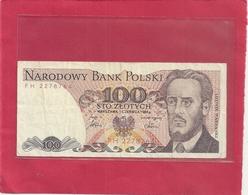 NARODOWY BANK POLSKI . 100 ZLOTYCH . 1-6-1986 . N° PH 2278764  . 2 SCANES - Pologne