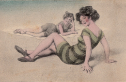 Sexy Ladies On The Beach In Bathing Suit - No Publisher Given - Written - No. 342 - 2 Scans - Women