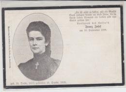 NEW KORRESPONDENZ-KARTE 10 SEPTEMBER 1898 ELISABETH - Entiers Postaux