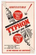 - BUVARD TYPHON - L'INSECTICIDE AEROSOL - - Buvards, Protège-cahiers Illustrés