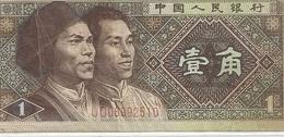 CHINA . PEOPLES REPUBLIC . 1 JIAO . 1980 . N° U 006992510 . 2 SCANES - China