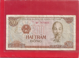 CONG HOA XA HOI CHU NGHIA VIET NAM . 200 DONG . 1987 . N° KP 7475455 . 2 SCANES - Vietnam