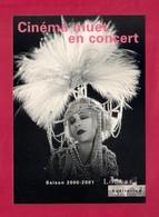 CPM.   Cart'Com.  Cinéma Muet En Concert.   Saison 2000-2001.  Louvre Auditorium. - Cinema