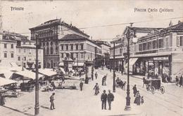 CPA TRIESTE - Piazza Carlo Goldoni - 1908 - Trieste