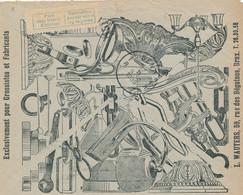 244/29 -- LUSTRES Belgique - Enveloppe Publicitaire CCP Circulée 1935 - Lustres Wauters, Voiture Huiles/Benzine SHELL - Timbres