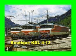 RU 1030 - Loco CC 6545, BB 7370 Et BB 22356 à L'annexe Traction - MODANE - Savoie - SNCF - Matériel