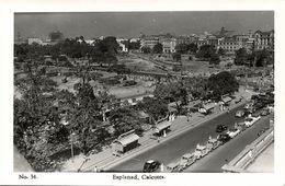 India, CALCUTTA, Esplanad, Cars (1950s) RPPC Postcard - India