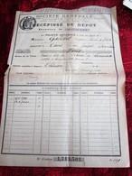 1923 BONS à LOT CANAL DE PANAMA RÉCÉPISSÉ DE DÉPÔT SOCIÉTÉ GÉNÉRALE CHINON / TOURS - FISCAUX à SEC Action Titre Autre - Aandelen