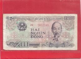 CONG HOA XA HOI CHU NGHIA VIET NAM . 2.000 DONG . 1988 . N° PR 5832185 . 2 SCANES - Vietnam