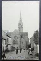 CPA 29 PLOUENAN - RARE - Grande Rue Et L'Eglise - Edit. Ballière Roscoff N° 1 -  Réf. A 206 - France