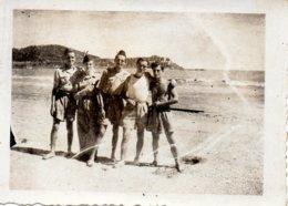 Photo Militaire Sur La Plage Années 40 - Oorlog, Militair