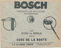 246/29 -- LAMPES Voitures Belgique - Enveloppe Publicitaire Des CCP Circulée (1933) - Allumage-Lumière BOSCH + De Keyn - Timbres