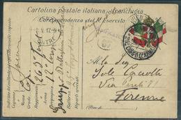 FRANCHIGIA PM 25° CORPO DI ARMATA 263° RGT FANTERIA GAETA X FIRENZE - War 1914-18