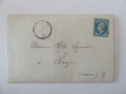 Lettre Folembray Vers Avize (Marne) - Timbre YT N°22 Ob. Type 17, GC 1534 Et Ambulant Erquelines à Paris Au Verso - 1868 - Marcophilie (Lettres)