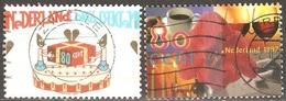 Pays Bas - 1997 - Gâteau Et Amaryllis, Café, Vin, Bougie - YT 1589 Et 1590 Oblitérés - 1980-... (Beatrix)