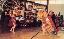 Cape Mudge British Columbia B.C. Canada - Potlatch Indian Chief Harry Assu - Kwakiutl Dance Dancers - Unused - 2 Scans - Native Americans