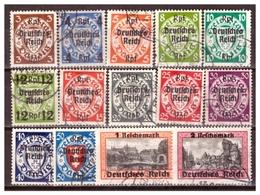 3.Reich: 1939: Nr. 716x-729x, Gestempelt - Germany