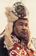 British Columbia B.C. Canada - Indian Kwakiutl Chief Henry George - Traditional Costume - Unused - 2 Scans - Native Americans