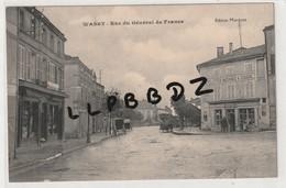 CPA - 52 - WASSY - Rue Du Général De France - Magasin Paquier Commerce Bicyclettes - Machines à Coudre - Pas Courante - Wassy