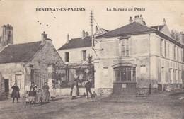95. FONTENAY EN PARISIS. . CPA. RARETÉ. LE BUREAU DE POSTE. ANIMATION. ANNEE 1914 - France