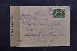 PAYS BAS - Enveloppe De Arnhen Pour La France Avec Contrôle Postal, Affranchissement Plaisant - L 33630 - Periode 1891-1948 (Wilhelmina)