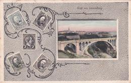 CPA Luxembourg - Gruss Aus Luxemburg - Représentation Timbres - 1910 - Timbres (représentations)