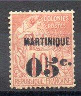 MARTINIQUE - YT N° 14 - Neuf * - MH - Cote: 80,00 € - Martinique (1886-1947)